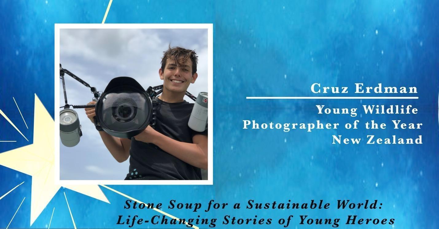 Cruz Erdmann, Young Wildlife Photographer of the Year from New Zealand